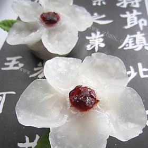蔓越莓梅花蒸饺