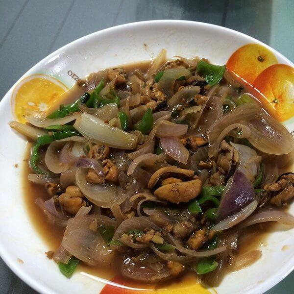 特色淡菜炒韭菜