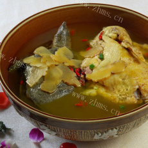 诱人的黄甲鱼豆腐汤