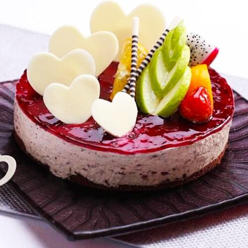 红豆紫米慕斯蛋糕