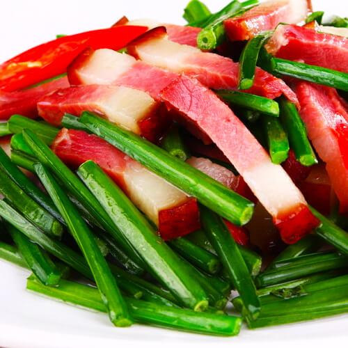 韭菜炒腊肉