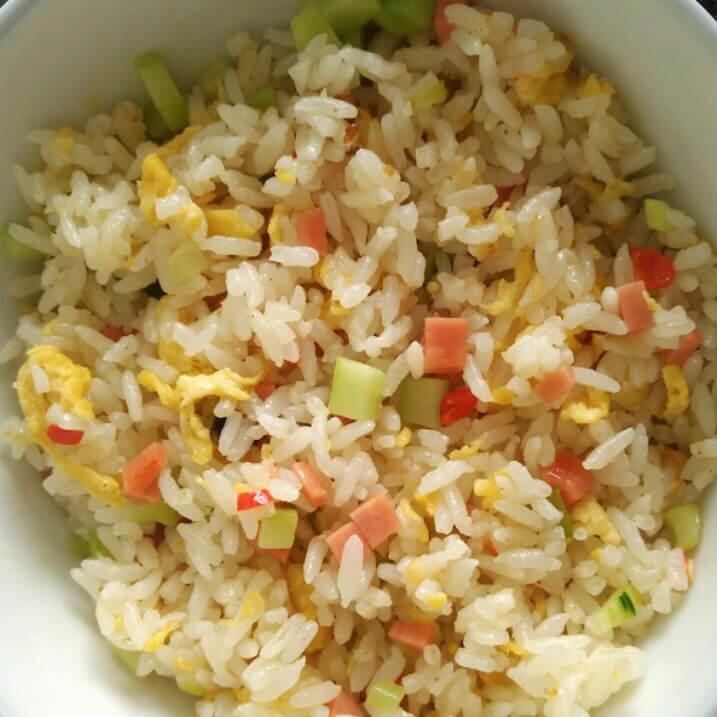 简单的素炒米饭