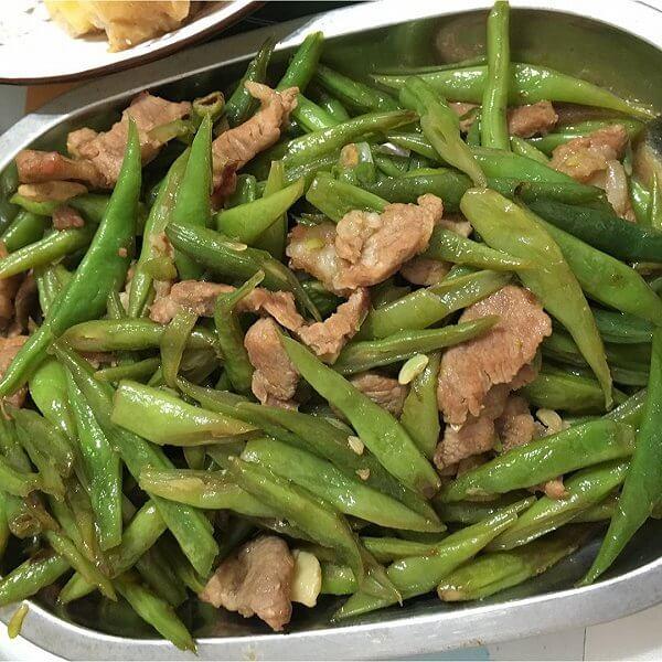 清炒瘦肉豆角