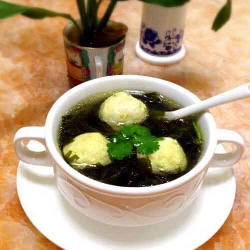 海藻鱼丸汤