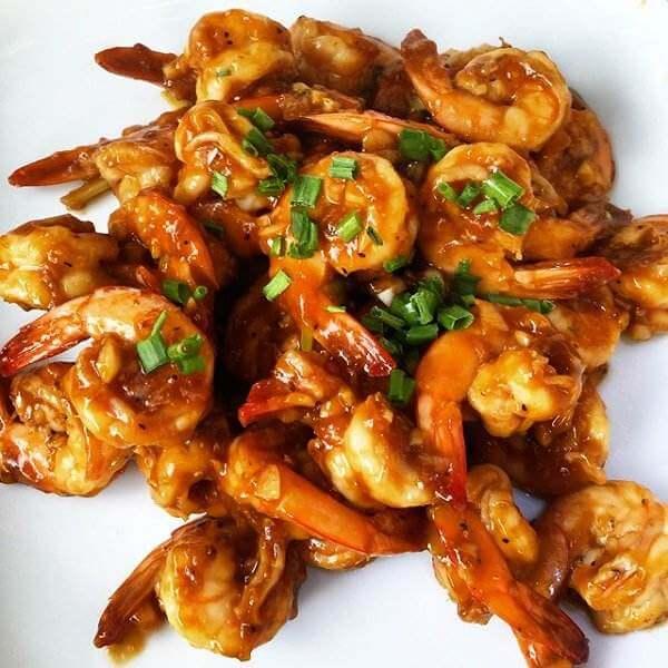 营养丰富的辣炒大虾