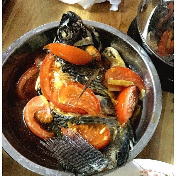 清爽可口的番茄福寿鱼
