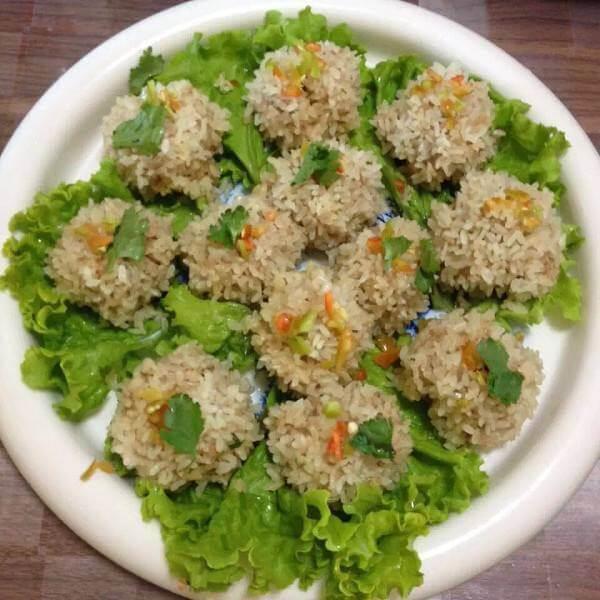 美美厨房之球菜糯米丸
