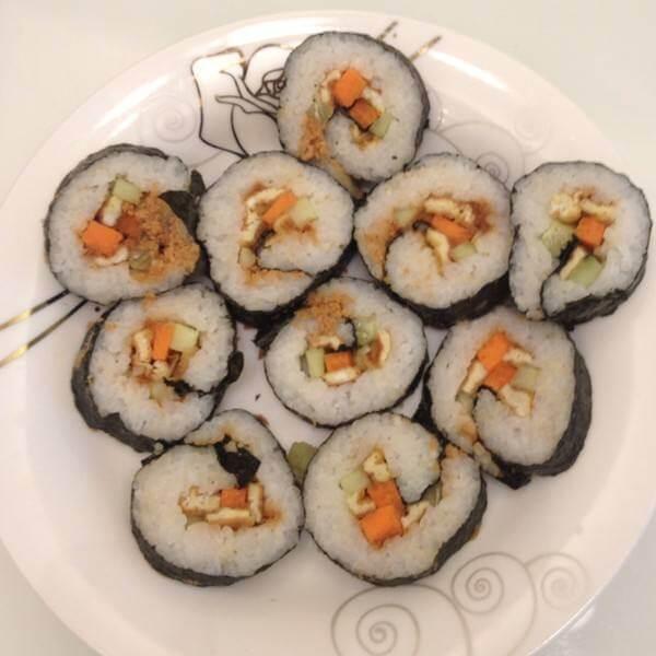 【经典美食】卤香海米寿司