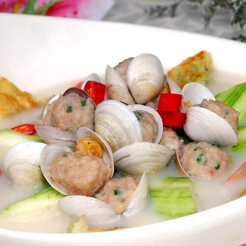 自己做的双椒蛤蜊肉
