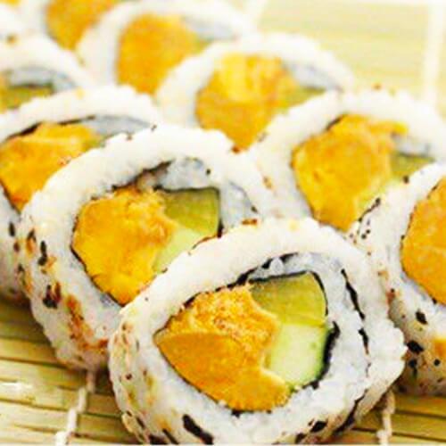 味道不错的咸鸭蛋黄寿司