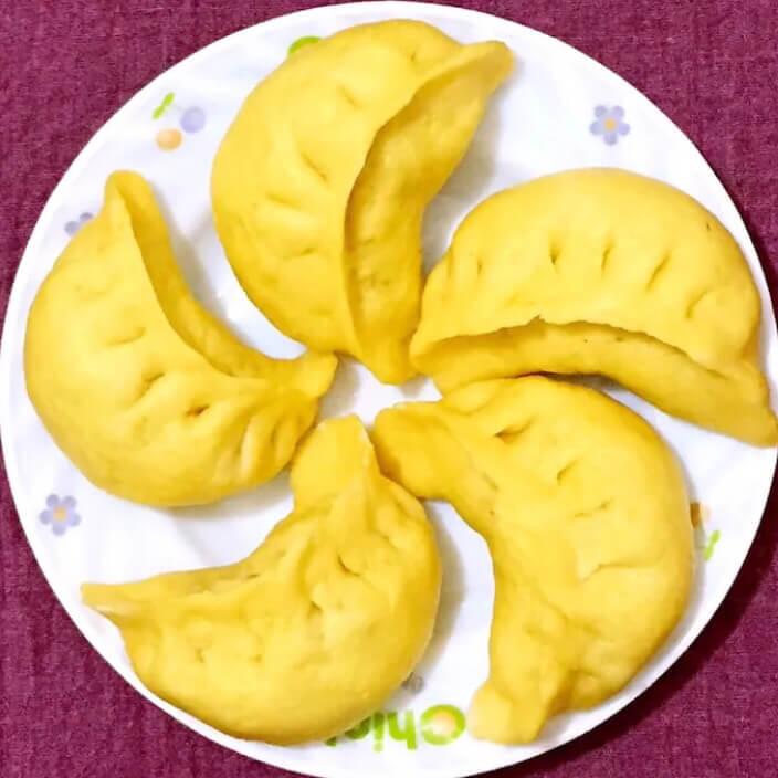 玉米面包菜饺子