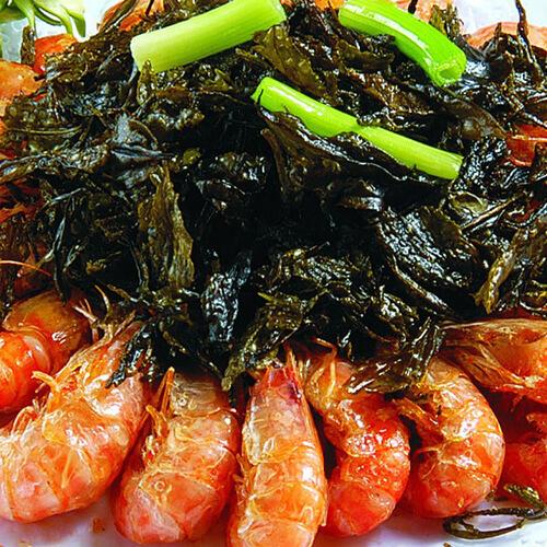 西芹炒斑节虾