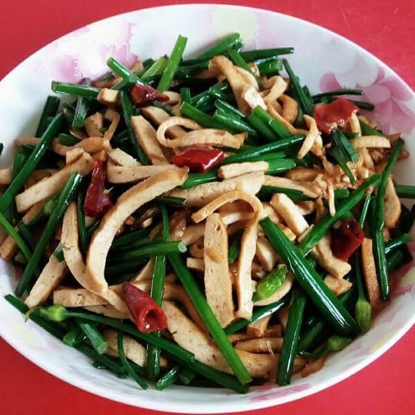 长豆炒虾皮