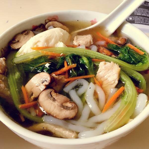 草菇肉片汤