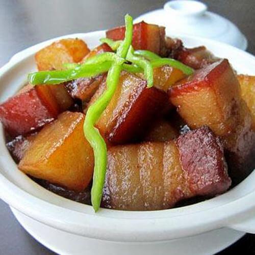 【美味可口】红烧肉炖冬瓜