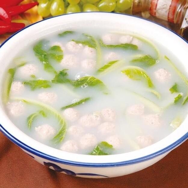 白菜汆丸子