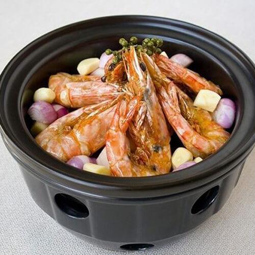 健康美食之砂锅焖虾
