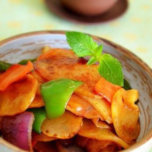 【健康美食】酱炒土豆片