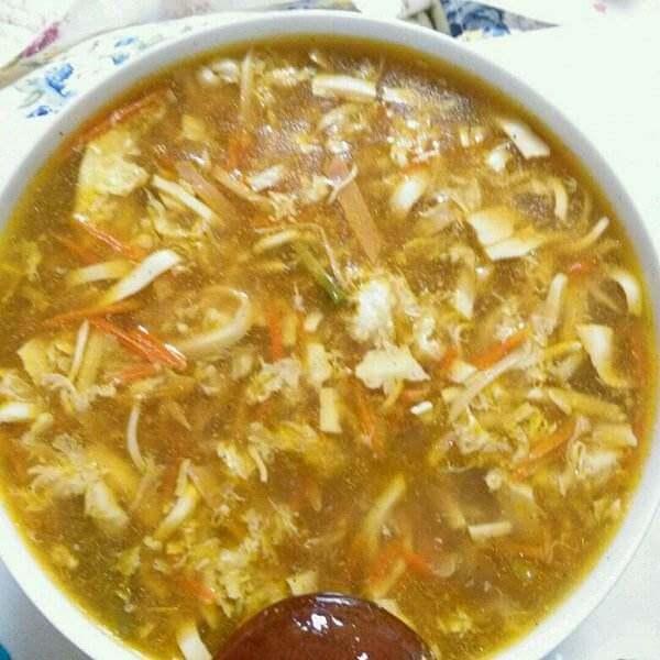 肉丝酸辣汤