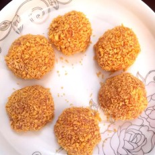#爱美食#香酥鸡肉球