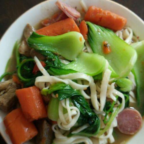 自制胡萝卜羊肉烀汤面