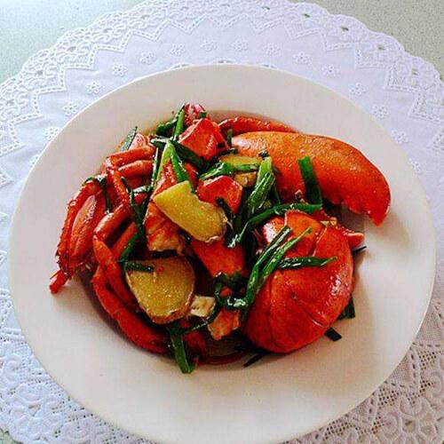 在家做的姜葱加拿大小龙虾