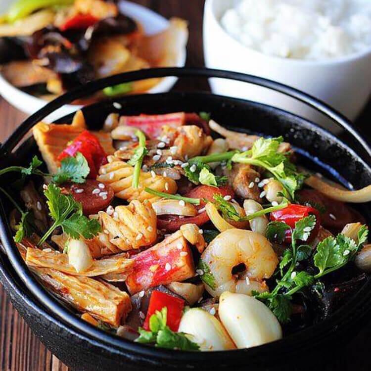美味的家庭式麻辣香锅