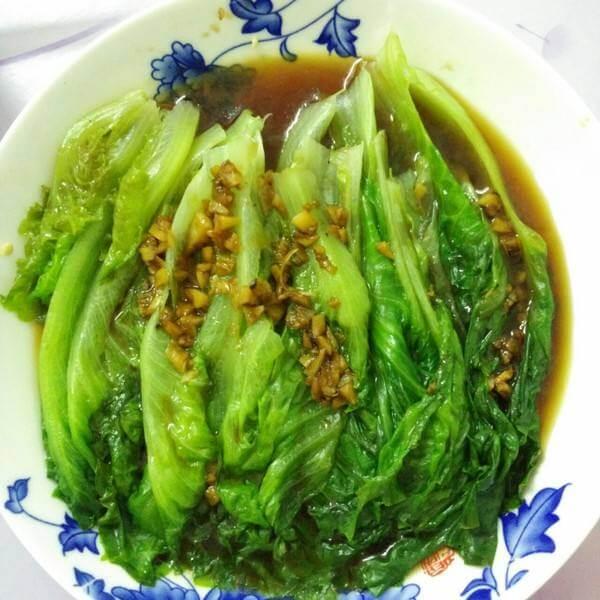 蒜蓉麻酱油麦菜