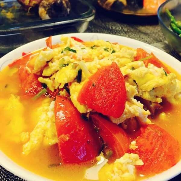青蒜番茄炒蛋