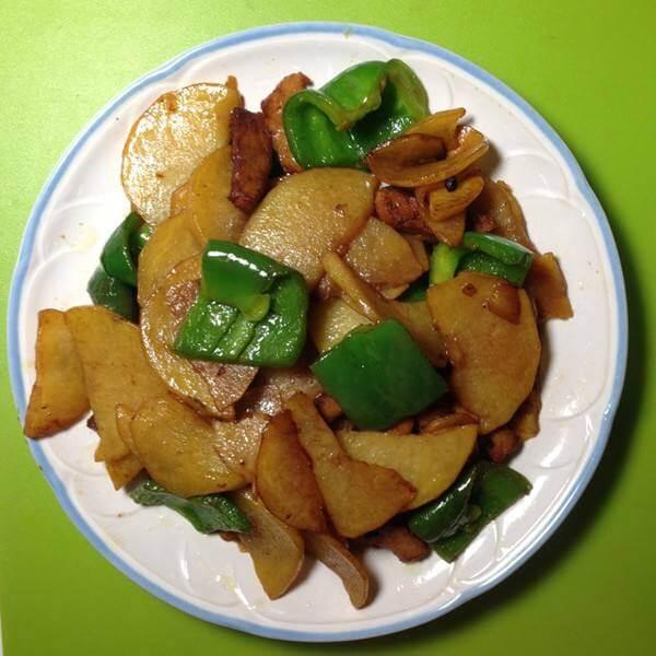 香辣土豆炒肉片