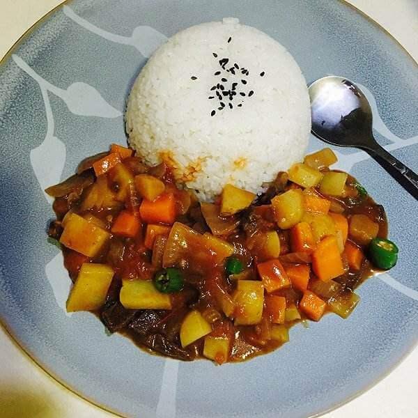 经典牛肉咖喱饭
