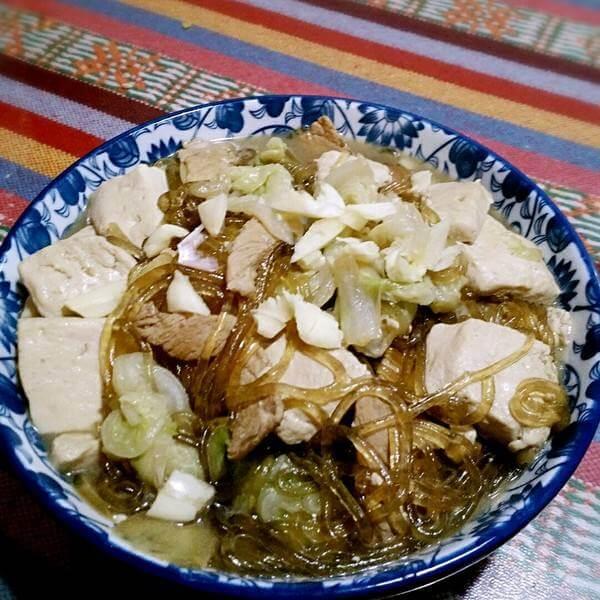 豆腐白菜炖粉条