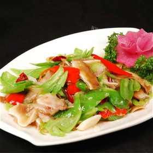 芹菜炒猪头肉