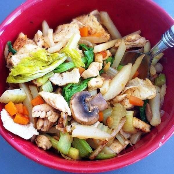 芹菜蘑菇炒肉