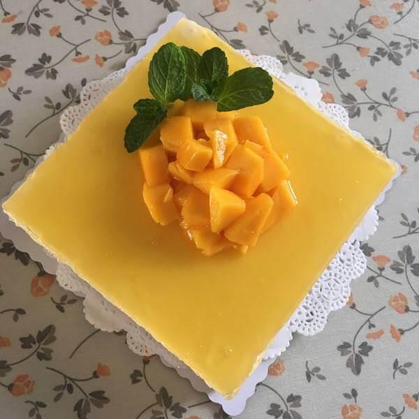 诱人的芒果芝士蛋糕