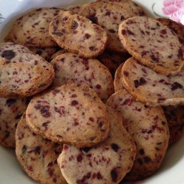 #爱美食#焦糖蔓越莓饼