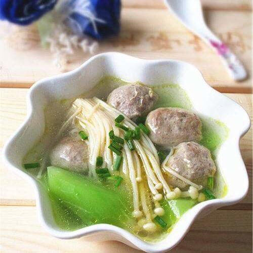 菌菇莴笋牛肉丸汤