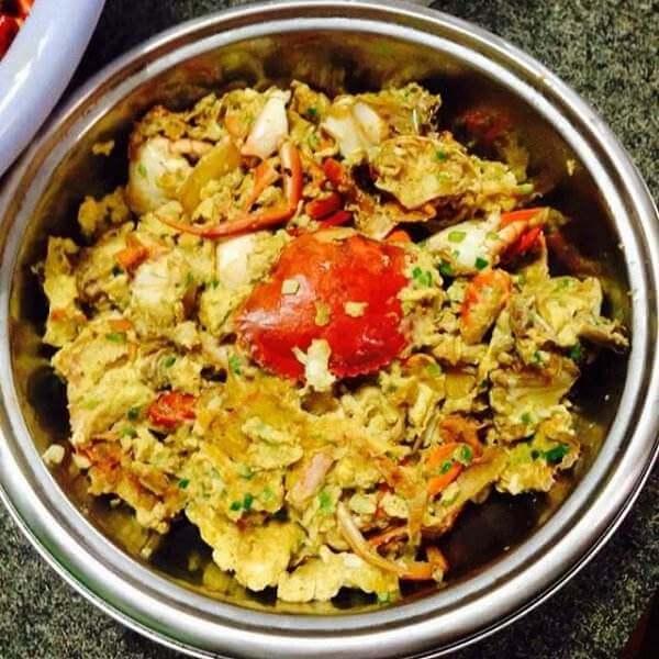 螃蟹炒鸡蛋