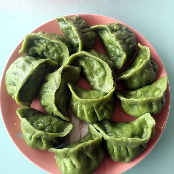 菠菜鲜肉水饺