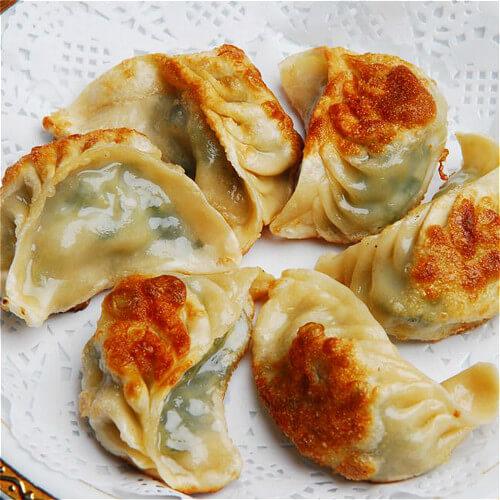 韭菜瘦肉煎饺