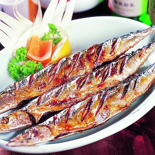 烧烤秋刀鱼(简单版)