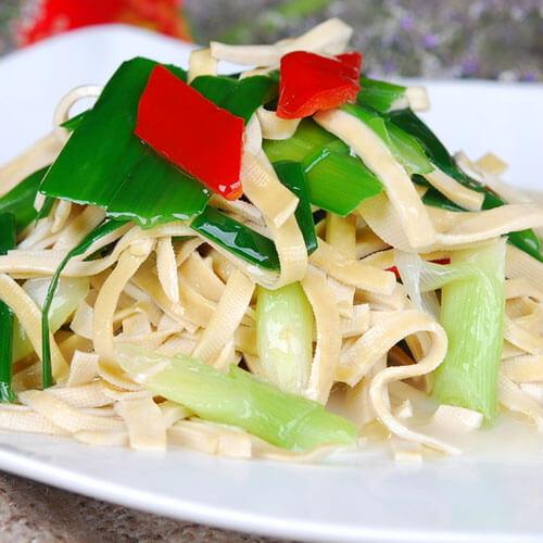 鲜虾韭菜炒千张