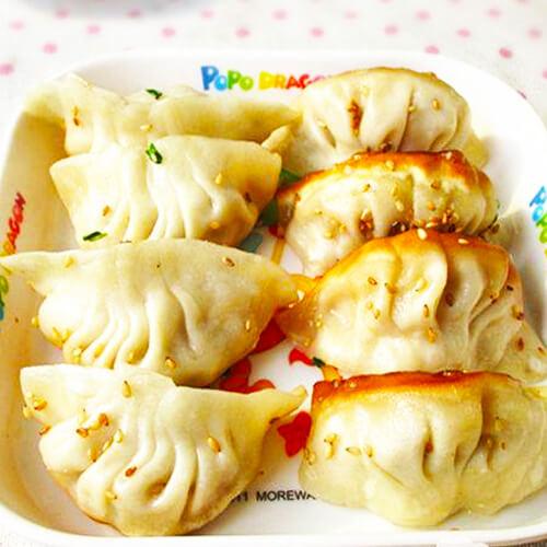 榨菜豆腐猪肉锅贴
