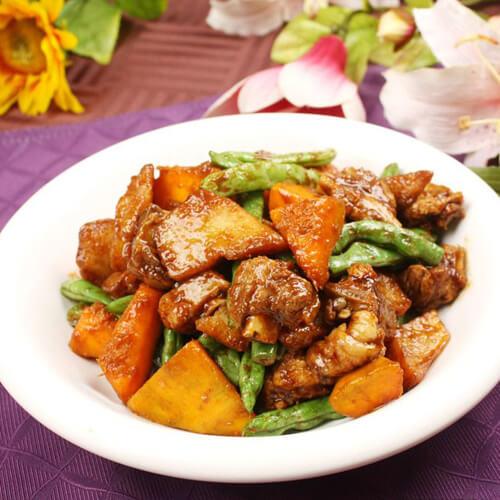 干豆角丝炖土豆条