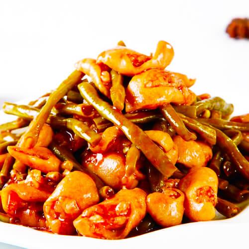 易做的豇豆炒肥肠