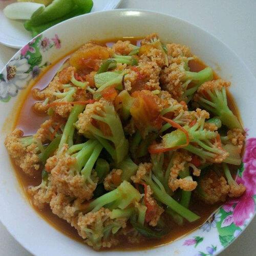 虾皮烩菜花