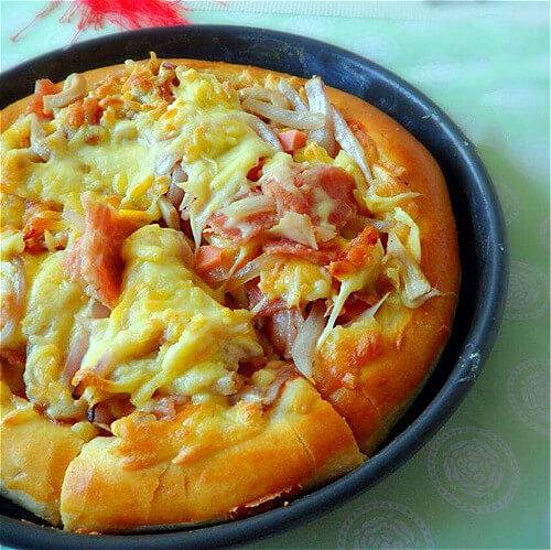 杏鲍菇培根披萨
