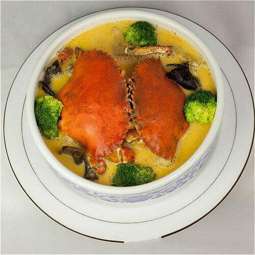 复古金汤蟹煲
