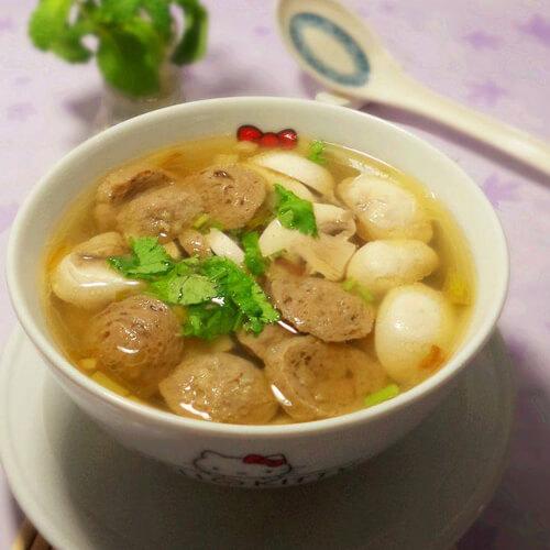 【经典菜】芦子叶肉丸汤