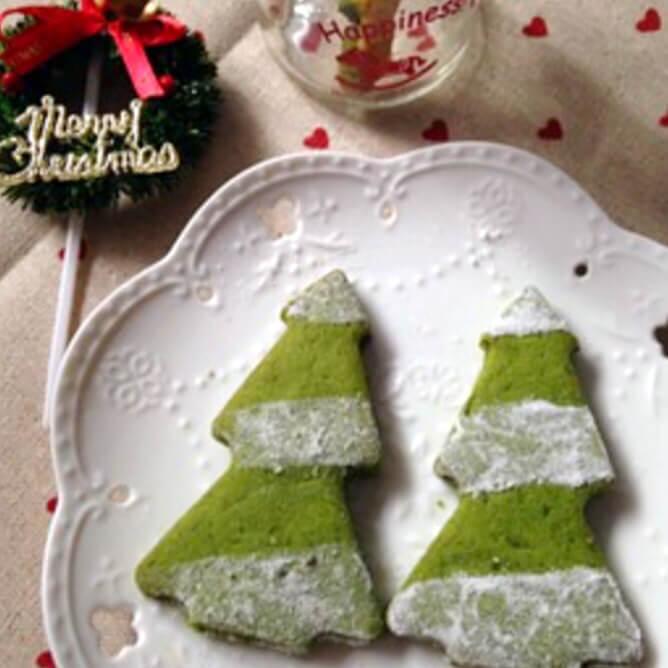 抹茶圣诞树面包